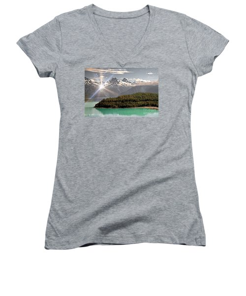 Alaskan Mountain Reflection Women's V-Neck