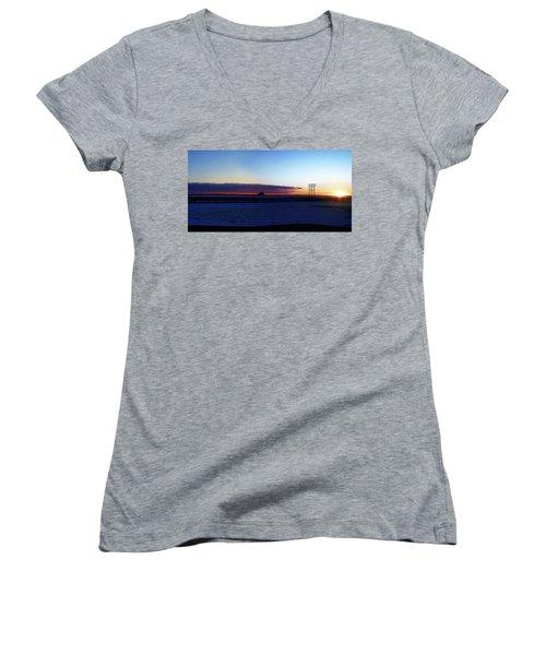Alaskan Sunrise Women's V-Neck