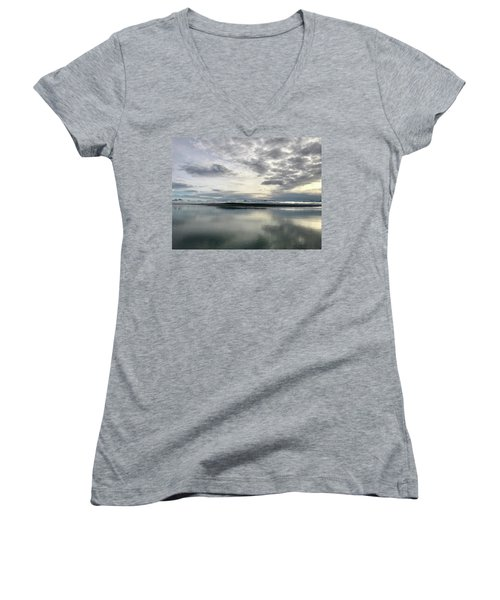 Alaskan Sunrise Women's V-Neck (Athletic Fit)