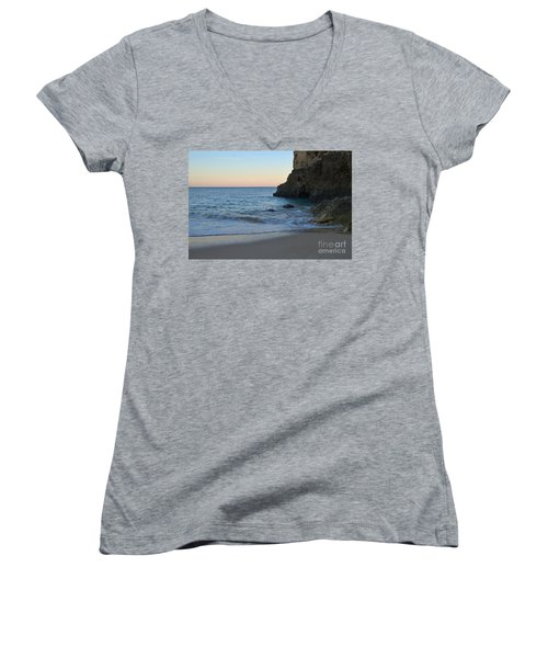 Albandeira Beach Welcoming Twilight 2 Women's V-Neck T-Shirt