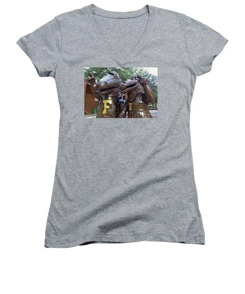 Albert And Alberta Women's V-Neck T-Shirt (Junior Cut) by D Hackett