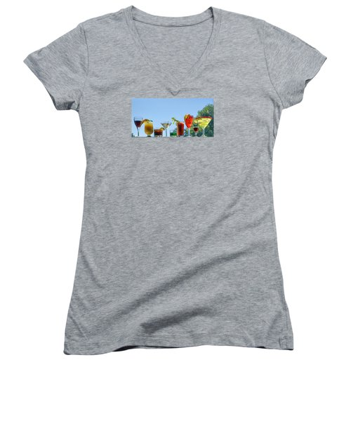 Alcoholic Beverages - Outdoor Bar Women's V-Neck (Athletic Fit)
