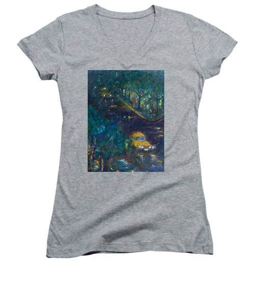 Alexandria Women's V-Neck T-Shirt (Junior Cut) by Leela Payne