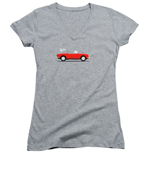 Alfa Giulia Spider 1964 Women's V-Neck T-Shirt
