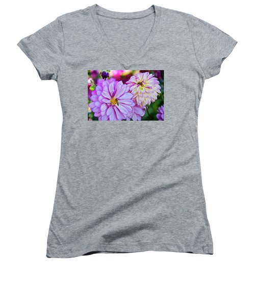 All A Buzz Women's V-Neck