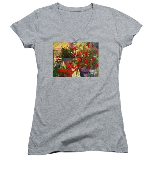 All About Red Women's V-Neck (Athletic Fit)