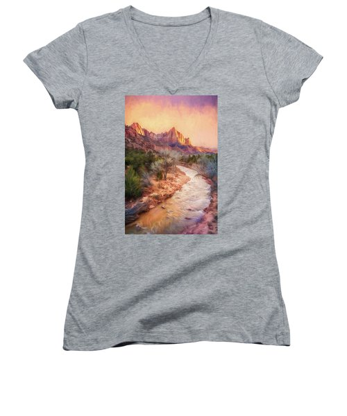 All Along The Watchtower Women's V-Neck