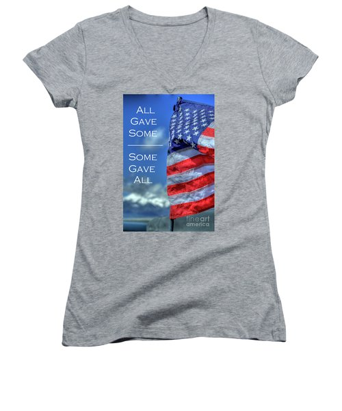 All Gave Some / Some Gave All Women's V-Neck (Athletic Fit)