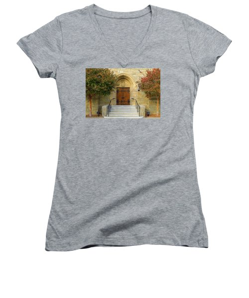 All Saints Church, Pasadena, California Women's V-Neck (Athletic Fit)