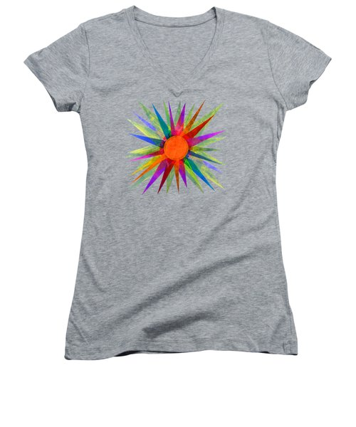 All The Colors In The Sun Women's V-Neck (Athletic Fit)