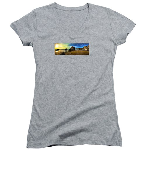 All The Gold In California Women's V-Neck (Athletic Fit)