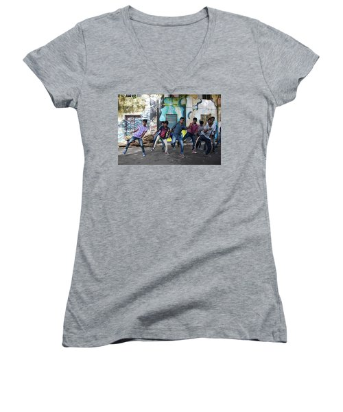 All The Moves Women's V-Neck (Athletic Fit)