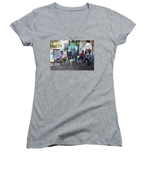 All The Moves Women's V-Neck T-Shirt