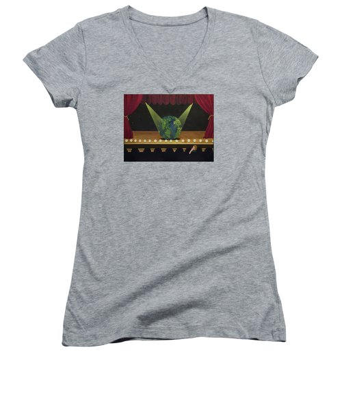 All The World's On Stage Women's V-Neck (Athletic Fit)