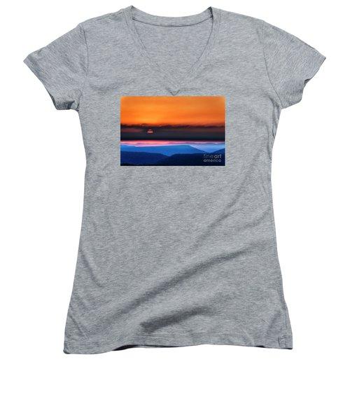 Allegheny Mountain Sunrise 2 Women's V-Neck T-Shirt