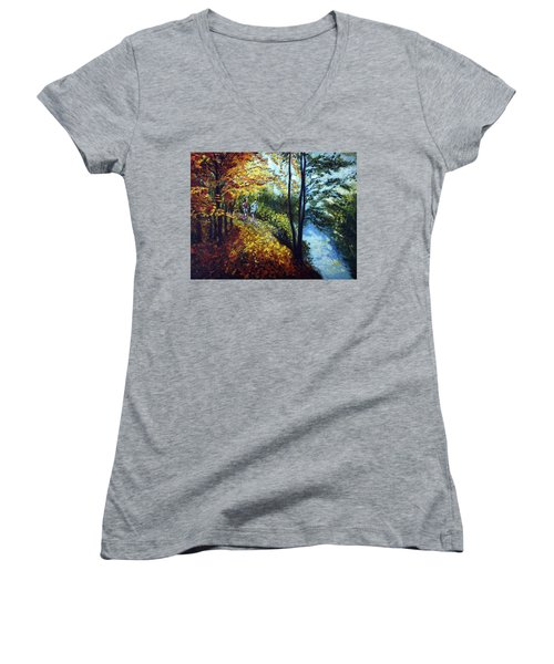 Alley By The Lake 1 Women's V-Neck