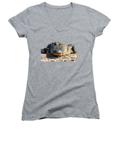 Alligator Approach .png Women's V-Neck T-Shirt (Junior Cut)