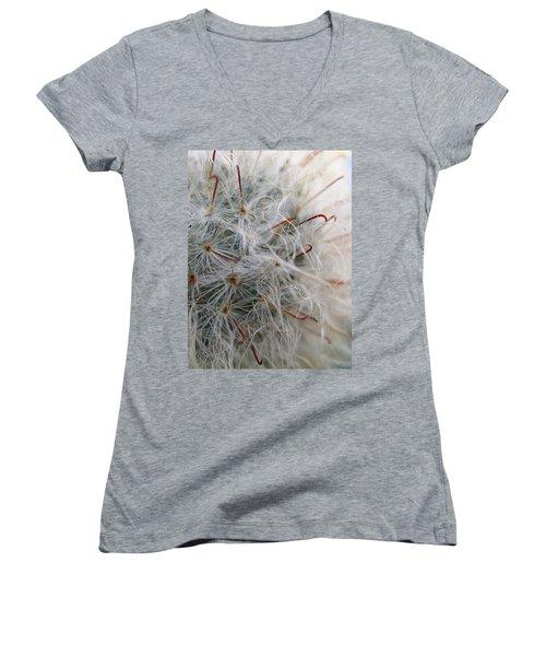 Women's V-Neck T-Shirt (Junior Cut) featuring the photograph Allium Sativum by Jolanta Anna Karolska