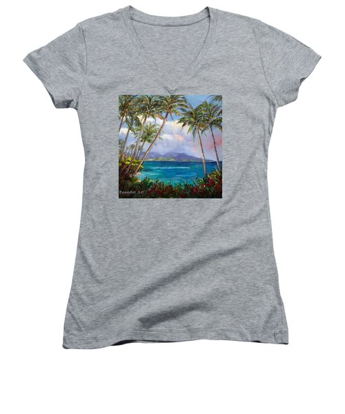 Aloha! Just Dreaming About #hawaii Women's V-Neck (Athletic Fit)