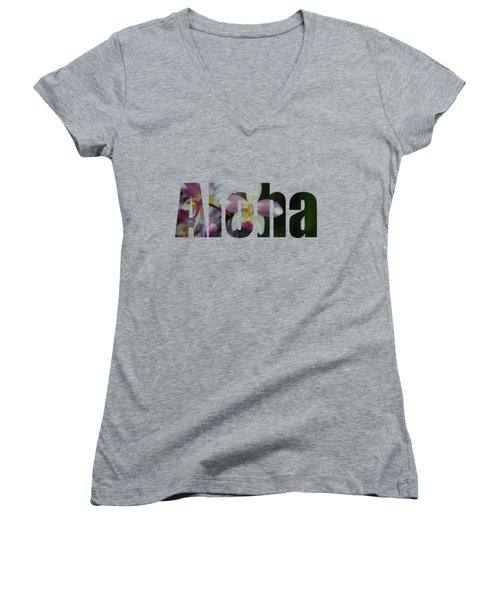 Aloha Orchids Type Women's V-Neck (Athletic Fit)