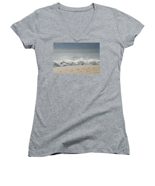 Alone - Jersey Shore Women's V-Neck