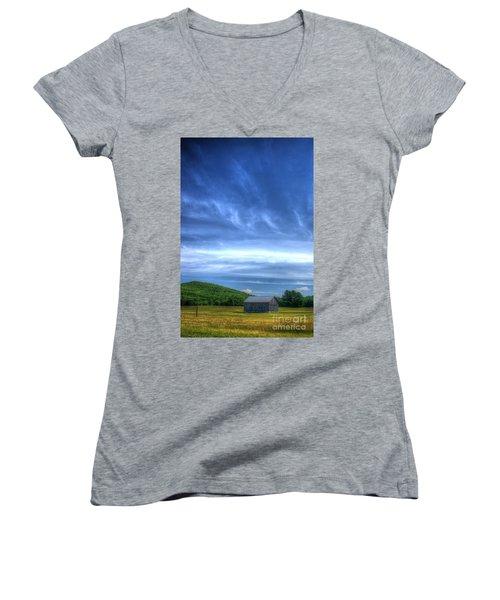 Alone Women's V-Neck T-Shirt (Junior Cut)