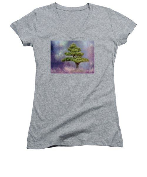 Alone With Myself Women's V-Neck