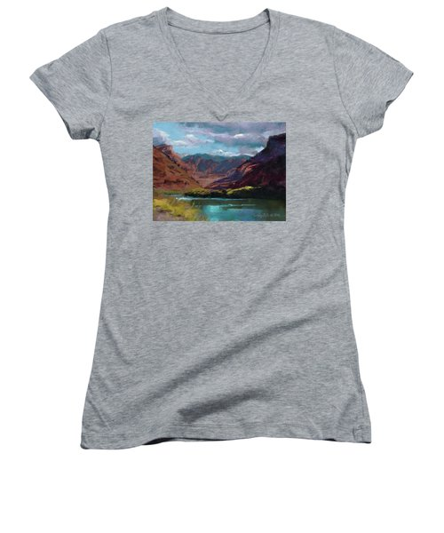 Along The Colorado Women's V-Neck (Athletic Fit)