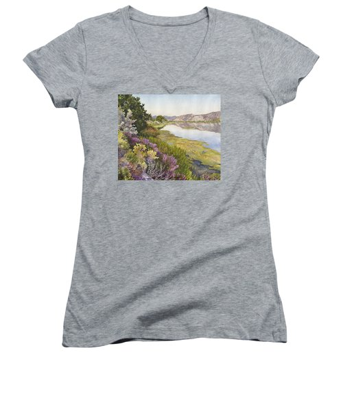 Along The Oregon Trail Women's V-Neck (Athletic Fit)