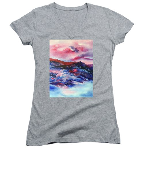 Alpenglow Women's V-Neck (Athletic Fit)