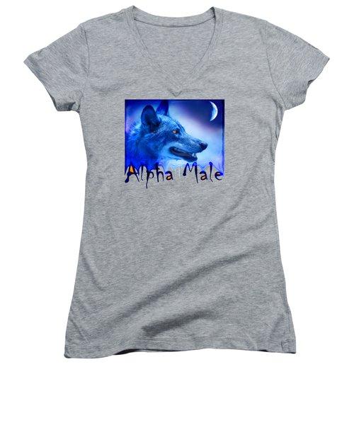 Alpha Male Women's V-Neck (Athletic Fit)