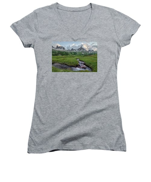 Alps In The Afternoon Women's V-Neck