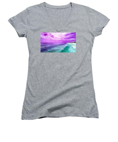 Alternate Beach Escape Women's V-Neck T-Shirt