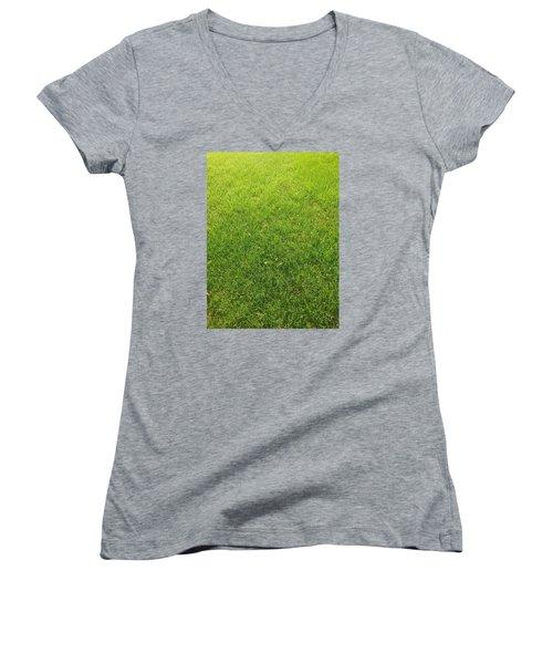 Always Greener Women's V-Neck T-Shirt (Junior Cut)