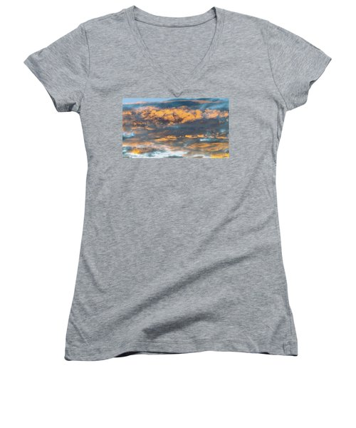 Clouds Of A Different Color Women's V-Neck