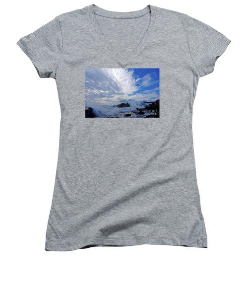 Amazing Superior Day Women's V-Neck T-Shirt (Junior Cut) by Sandra Updyke