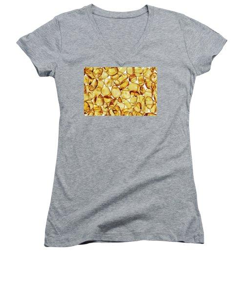 Amber #2h2a0902 Women's V-Neck T-Shirt (Junior Cut) by Andrey Godyaykin
