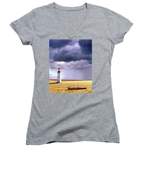 Amber Waves Of Grain Women's V-Neck T-Shirt