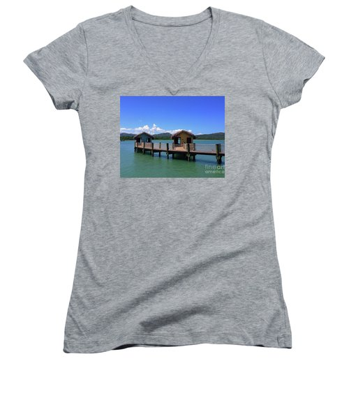 Amberhuts Women's V-Neck T-Shirt