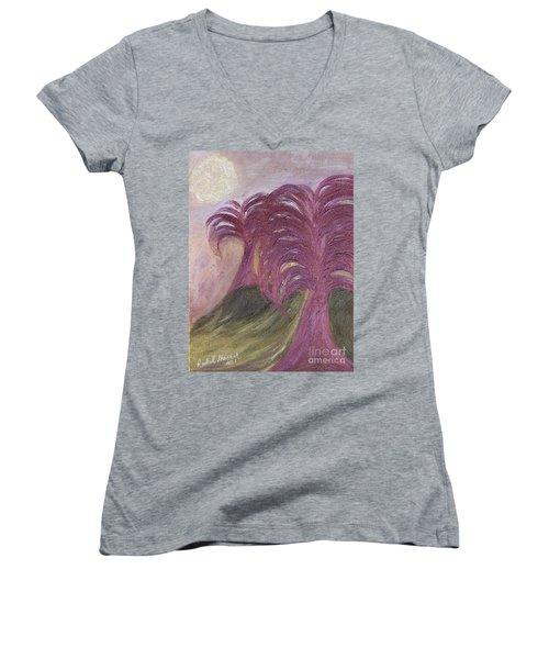 Ambient Moonlight Women's V-Neck T-Shirt