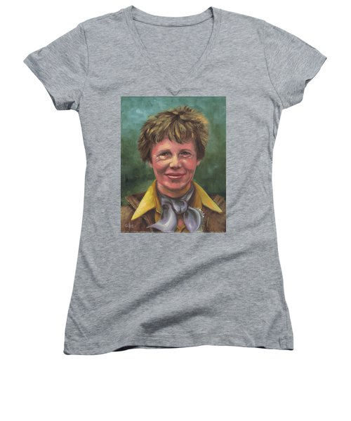 Amelia Earhart Women's V-Neck
