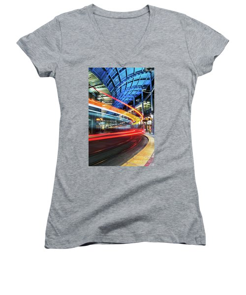 America Plaza Station Women's V-Neck (Athletic Fit)