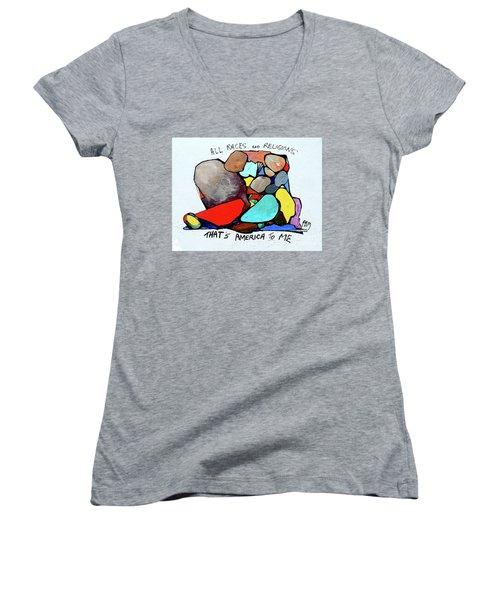America To Me Women's V-Neck T-Shirt