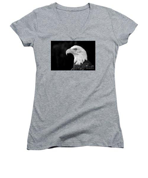 American Bald Eagle Women's V-Neck