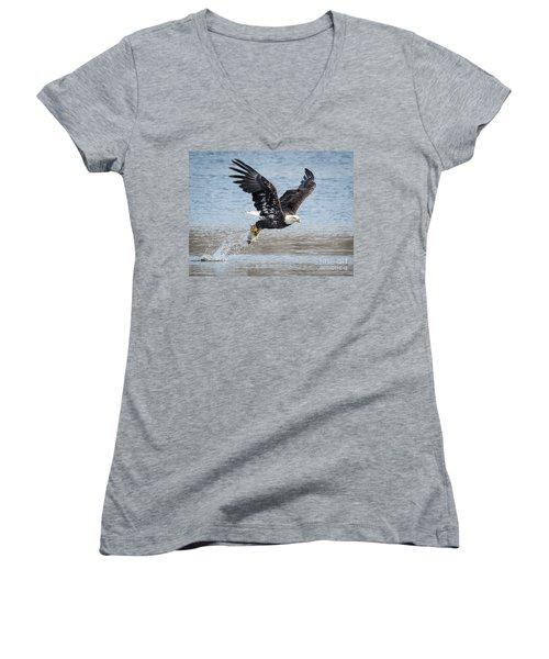 American Bald Eagle Taking Off Women's V-Neck