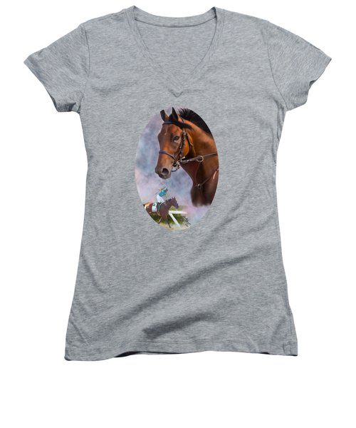 American Pharoah Women's V-Neck