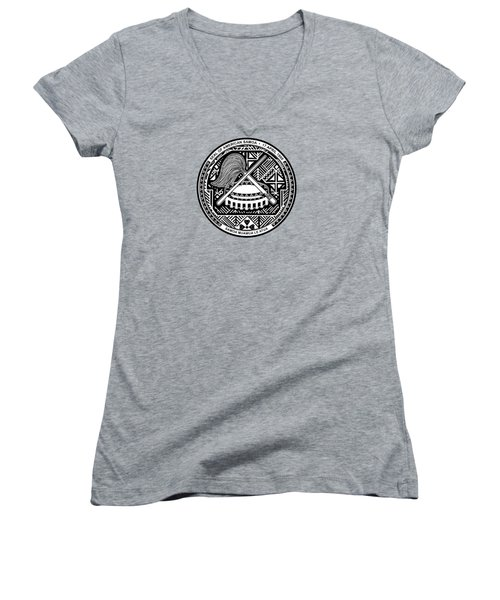 American Samoa Seal Women's V-Neck T-Shirt