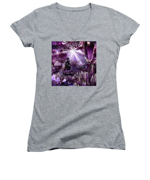 Amethyst Dreams Women's V-Neck (Athletic Fit)
