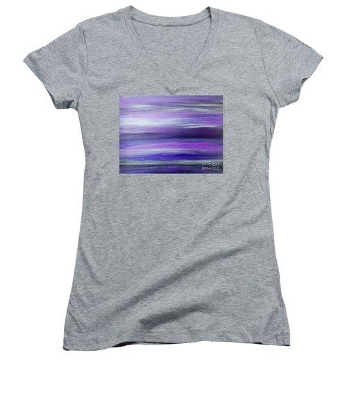 Amethyst Mirage  Women's V-Neck T-Shirt (Junior Cut) by Rachel Hannah