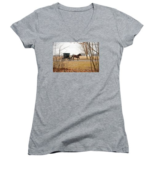 Amish Dream 1 Women's V-Neck (Athletic Fit)